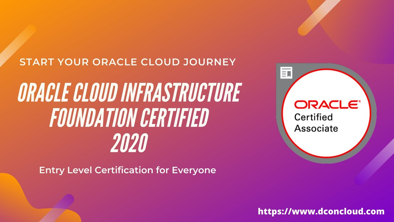 Prepare and Pass Oracle Cloud Foundation Associate 2020